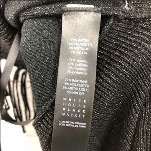 White House Black Market Sweaters - WHBM Black Glitter Open Front Fringe Open Cardigan